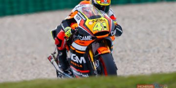 Espargaro (NGM Forward Racing) produced the fastest ever lap of the current Assen track (1'33.653) towards the end of FP2 on a soft rear tyre, the Spaniard beating Casey Stoner's 2012 lap record (1'33.713). Espargaro had also been second quickest in the morning session.
