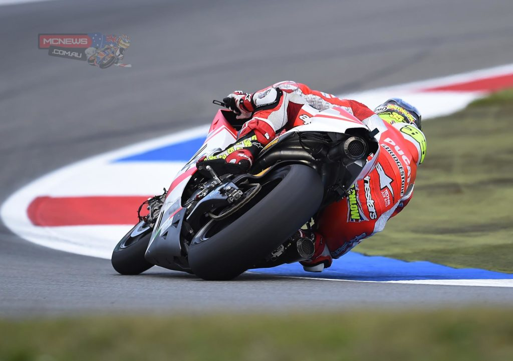 """Cal Crutchlow (Ducati Team #35) – 13th (1'35.469) - """"It's been a tough day. After our usual briefing yesterday the plan was to just ride the bike today and not make so many adjustments with the settings. But I didn't feel too comfortable, the lap time is too far away from the other guys and the other Ducati riders. We will have to improve a lot to get into the top ten tomorrow. I feel a bit at the limit with the front of the bike, so now we have to investigate the data to understand the reason why."""""""