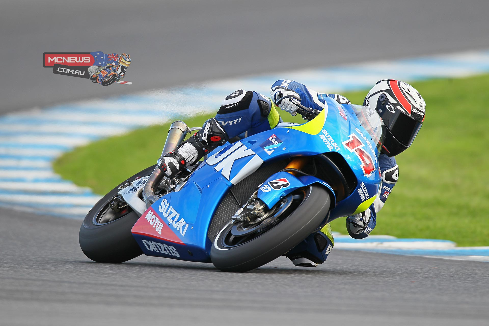 The Suzuki MotoGP team concluded its three-day test at Phillip Island in Australia today after rain and less-than-perfect track conditions hampered much of the progress the riders and technicians hoped to make.