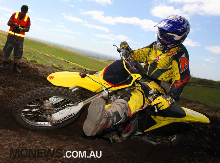 Mark Willis testing an RM-Z250 for MCNews.com.au at Barrabool