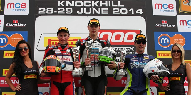 Pirelli National Superstock 1000 Championship Podium