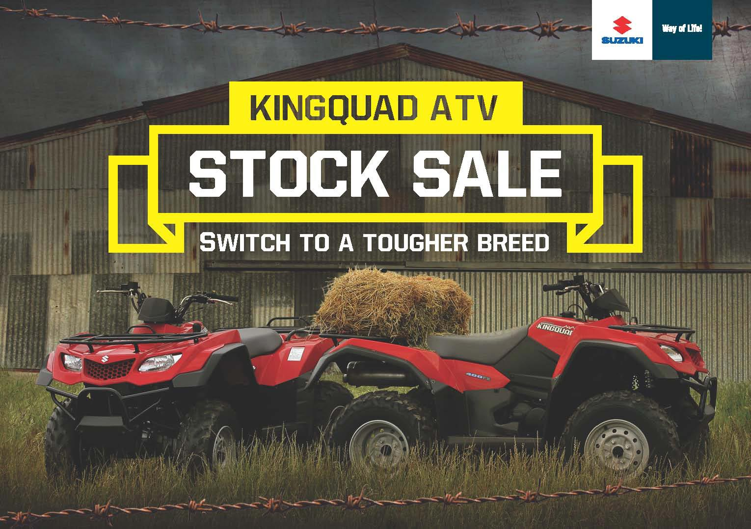 With factory bonuses on every model until June 30, your local Suzuki dealer has the stock and is ready to deal on the legendary range of Suzuki farm ATVs.
