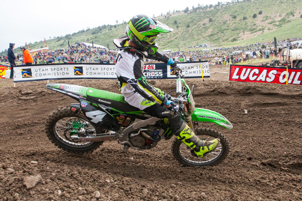 Baggett fought hard for his first 250 Class win since Budds Creek last June. (Photo: George Crosland)
