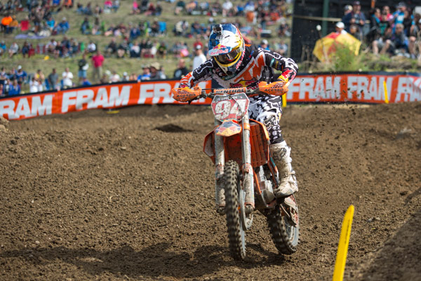 Roczen dominated the second moto to post back-to-back 450 Class wins. (Photo: George Crosland)