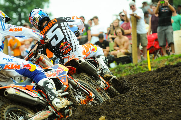 The battle for the win once again came down to the dominant Red Bull KTM duo. (Photo: Amy Schaaf)