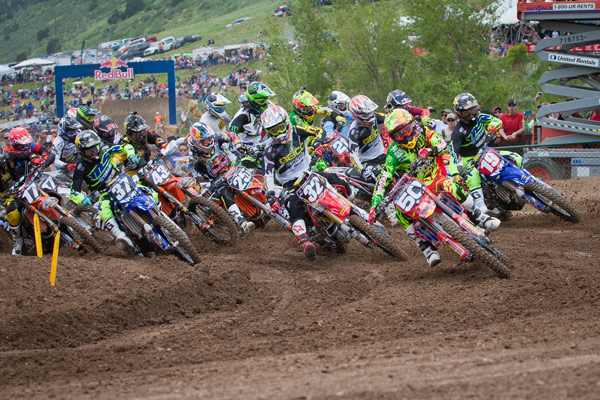 Jessy Nelson (50) turned a strong start into a second place finish in Moto 1. (Photo: Chris Ortiz)