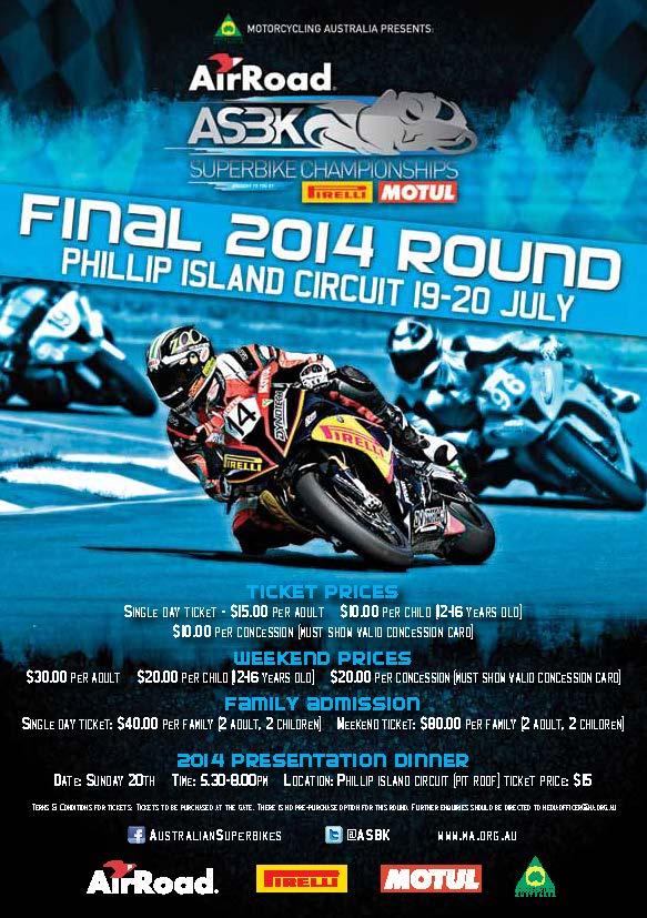 ASBK 2014 Phillip Island Flyer