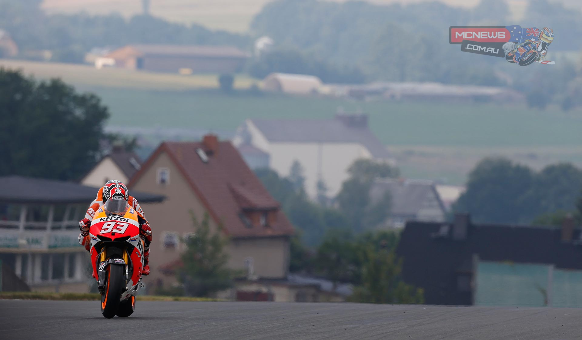 Marc Marquez on way to victory at Sachsenring 2013