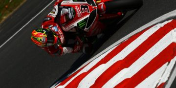 """Brookes said: """"Today has not been completely perfect, but it has gone fairly well really – we are at the top of the times. In the first session we started on the SC1 tyre as I normally use that one for the race and only use the SC0 on the odd occasion. But with the temperature being as hot as it was today it was the ideal environment for the SC0, so for the second session we made some more changes and we were able to do consistent and good lap times. It wasn't perfect as I said before, but I am fairly satisfied with how we have ended today with a really good, consistent run and the fastest time."""""""