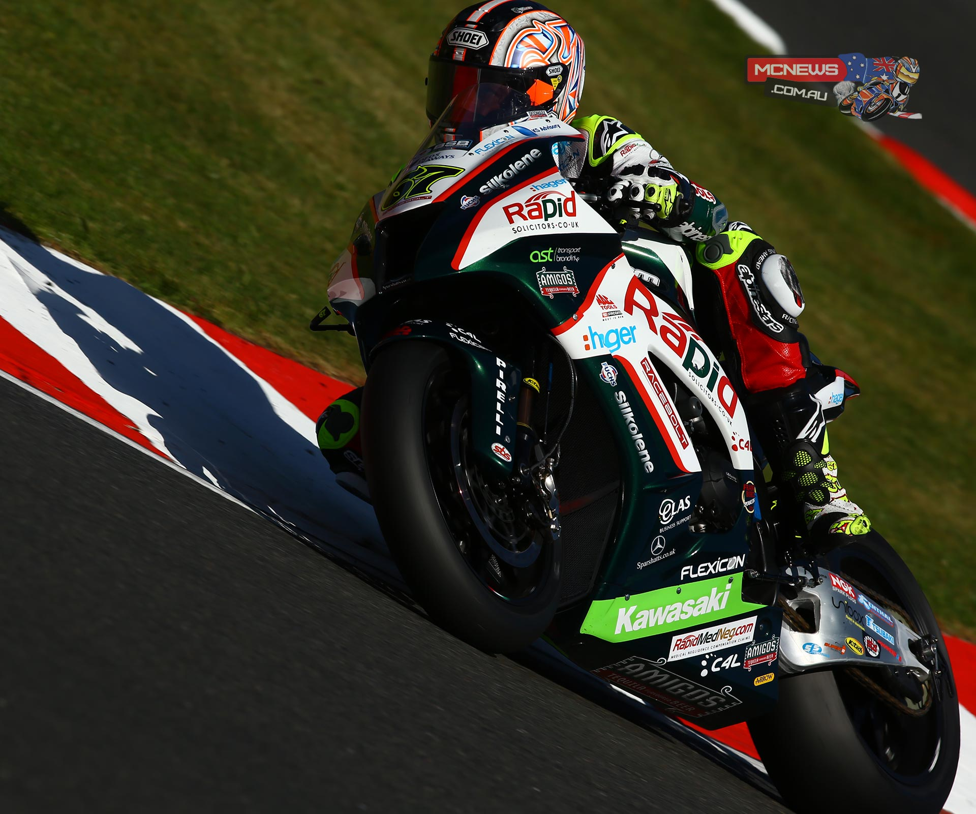 Byrne's third pole came with a lap in 1m 26.131secs, just 0.058secs up on Lloyds British GBmoto Kawasaki's Chris Walker. His team-mate James Ellison completes the front row of the grid after his spell at the top earlier in the session.