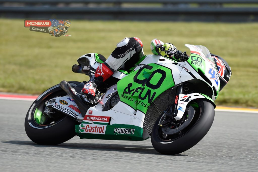 """Scott Redding (15th - 1'22""""933) - """"Actually riding here is not as bad as I expected. This is not one of my favourite circuits, but with this bike I'm enjoying it a lot! So far I'm quite happy. In the second practice session we had a small problem with the shock absorber, so it was difficult to set good lap times, but we are not worried about it. We focused on learning the track and the electronics, regarding in particular the anti-wheelie control, because here wecan't use so much power. Now we need to find a little bit more rear traction, and just learn the track to get the right rhythm, and hopefully we can come a little bit closer to the other bikes through the weekend""""."""