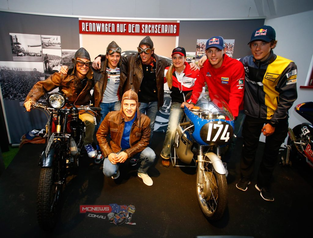 The riders in attendance were the aforementioned Espargaro and Bradl, alongside Germans Jonas Folger, Sandro Cortese, Marcel Schrotter, Philip Oettl and Moto2 wildcard Nina Prinz.