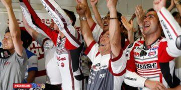 The winning team celebrate