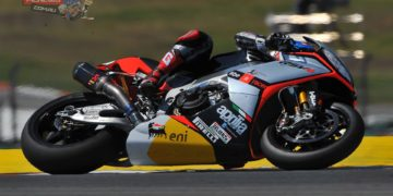 """Marco Melandri: """"Overall this was a good day for us. In the afternoon the conditions were much different than in the morning with strong winds and very hot asphalt. Because of that we focused on testing tyres because with the new solutions available to us the choice is not necessarily a given. As far as our times go I was quite pleased with the performance in the first practice session so in the afternoon I decided to work more on race pace. I am seeing a lot of competitive riders and here at Portimão race times usually change quite a bit, so being well prepared is essential. Superpole is not my strong point, but tomorrow I'll have to try to take advantage of it as best as possible. Starting from the front row could definitely help in the hung for a good result""""."""
