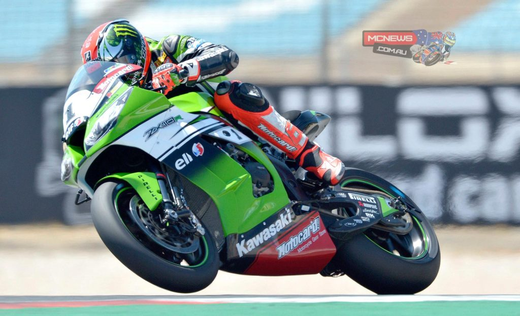 Tom Sykes (Kawasaki Racing Team) elevated himself to 2nd despite running off track in the final few moments of the session.