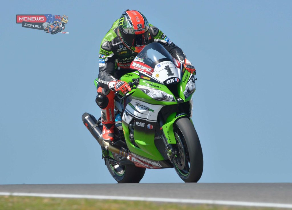 """Tom Sykes: """"It was a useful test. In the first day the track was not in perfect conditions but we managed to make some progress with the ZX-10R anyway. We started the second day a bit late, we had still some items to try but we had not enough time. Anyway we tried different geometries and improved the overall feeling on the bike. We could make changes that were impossible to do during the race weekends. The lap times were not our biggest concern but it is always nice to finish on top. Now I am going to enjoy the summer break back in the UK and hopefully sort out my hand/wrist problem. I feel we have the right package to be competitive in the final part of the season."""""""