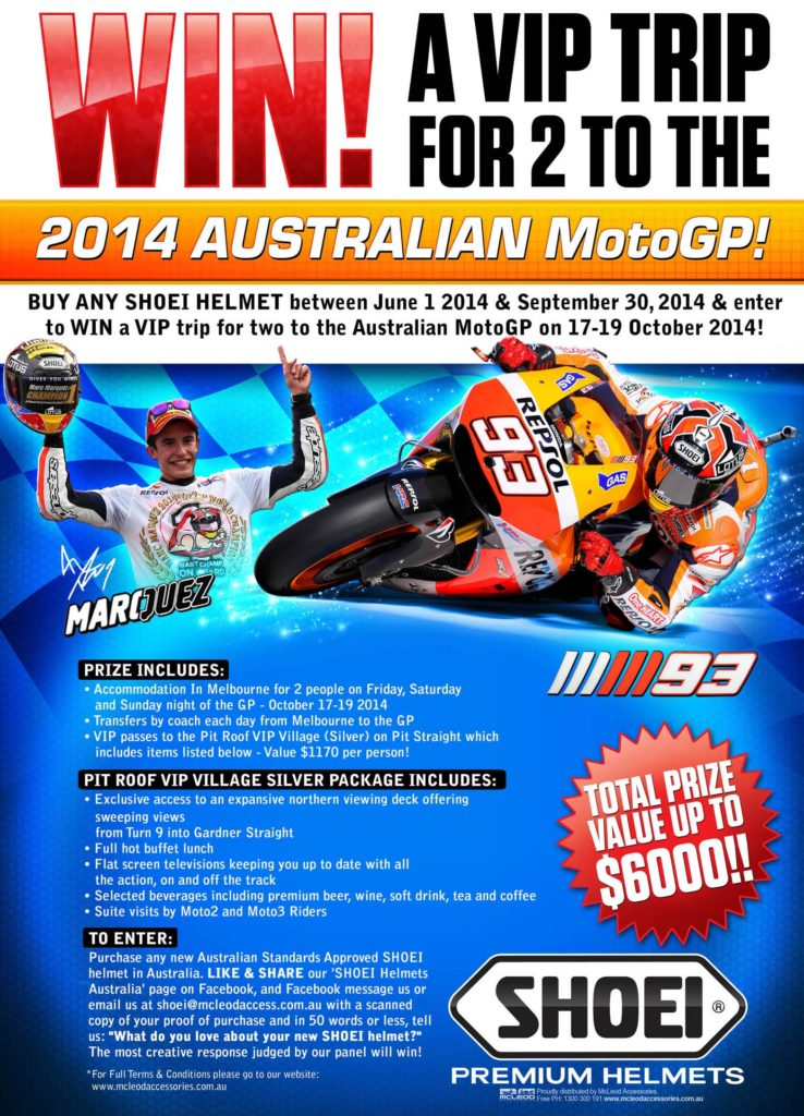 Advert - Win a VIP MotoGP trip with Shoei