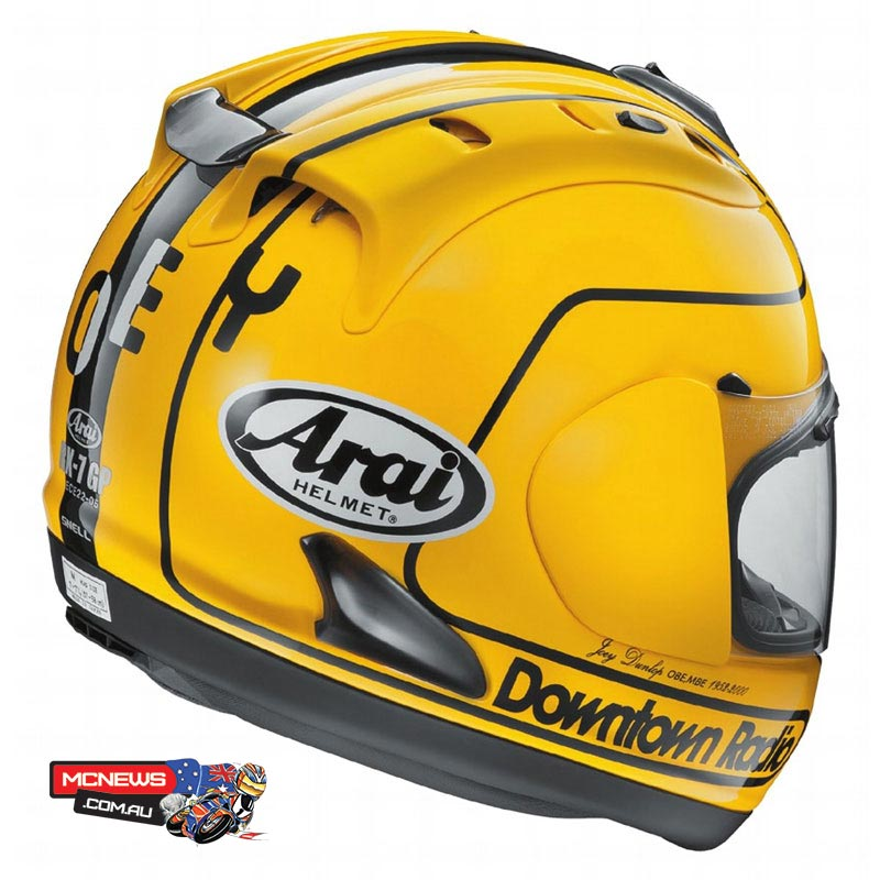Arai UK launch limited edition RX7-GP Joey Dunlop 1985 Replica Helmet