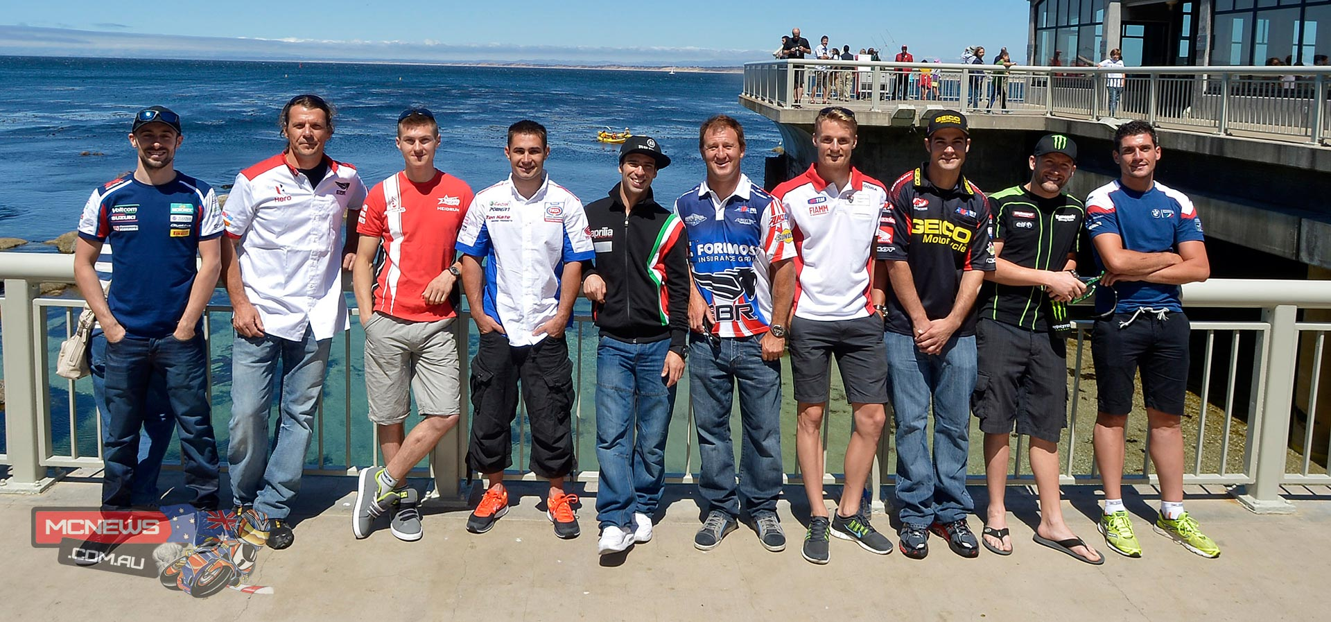 Tom Sykes (Kawasaki Racing Team), Marco Melandri (Aprilia Racing Team), Chaz Davies (Ducati Superbike Team), Eugene Laverty (Voltcom Crescent Suzuki), Leon Haslam (Pata Honda World Superbike), Sylvain Barrier (BMW Motorrad Italia Superbike Team – EVO), Aaron Yates (Team Hero EBR) and Christian Iddon (Team Bimota Alstare - EVO) were joined by wildcard riders Larry Pegram (Foremost Insurance EBR) and Chris Ulrich (GEICO Motorcycle Road Racing Honda) to spend a couple of hours at the Monterey Aquarium. They were treated to a guided tour of the aquarium and one of the largest open sea exhibits in the world. The exhibit holds 1 million gallons of water and houses a variety of creatures including sharks, tuna and turtles to name but a few. On their return to the Laguna Seca circuit the riders involved in today's media event were able to join their rivals for the customary two hour track familiarisation session, which given the fact that the circuit is new for many of the entrants will prove valuable come tomorrow's three Free Practice sessions which are scheduled to commence at 10:30 am local time.