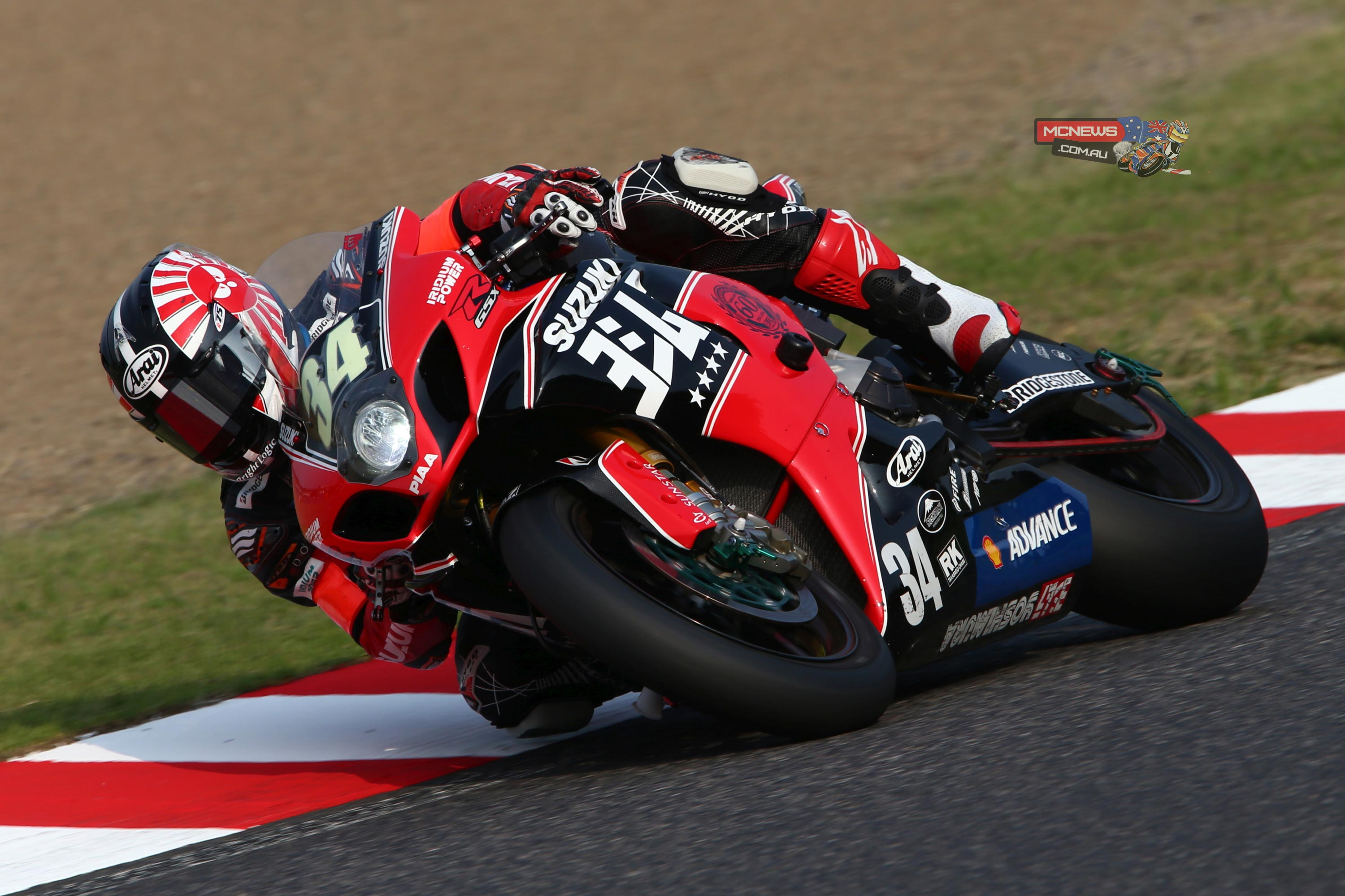 Yoshimura Suzuki Shell Advance team rider Takuya Tsuda – who was paired with fellow Suzuki MotoGP Test Team rider Randy De Puniet and Josh Waters – set a blistering time of 2'06.703 around the 5.821km circuit on the #34 GSX-R1000 beating the previous record of 2'06.817 set by Monster Energy Yamaha's Katsuyuki Nakasuga in 2012.