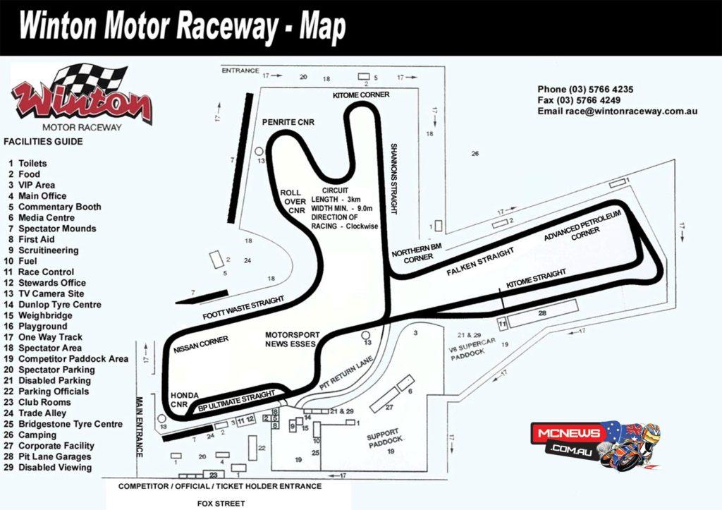 Winton Circuit Map