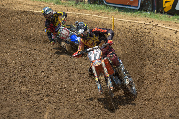 Anderson's (17) first career moto win put him in control in the pursuit for the overall. (Photo: George Crosland)