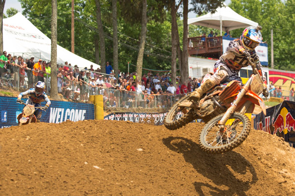 The battle for victory once again came down to Dungey (5) and Roczen (94). (Photo: George Crosland)