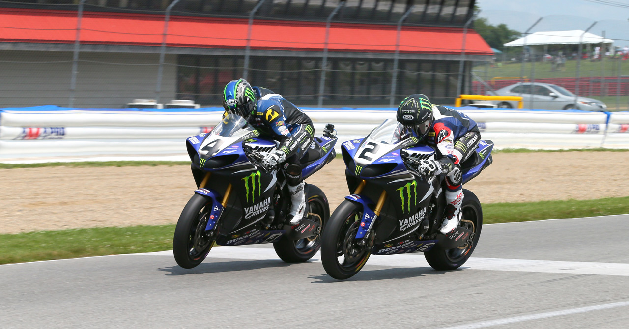Hayes & Beaubier share Mid-Ohio spoils - Photo by Brian J Nelson
