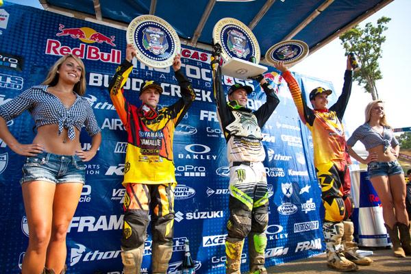 250 Class podium: Martin (left), Baggett (center), Anderson (right). (Photo: Matt Rice)