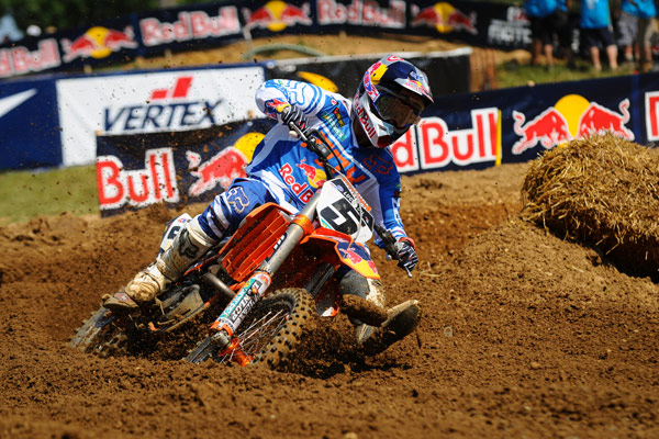 Dungey led every lap in the second moto. (Photo: Amy Schaaf)