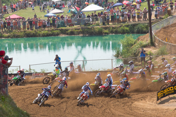 The second moto holeshot proved to be the key to Dungey's (5) success. (Photo: George Crosland)