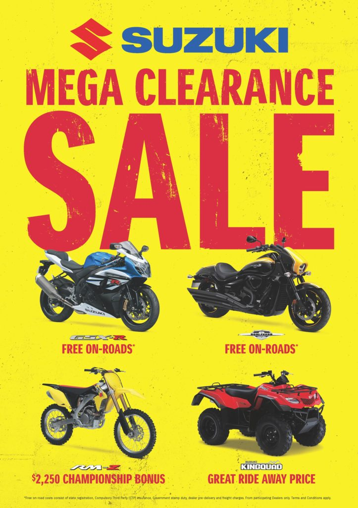 Advert Suzuki Clearance