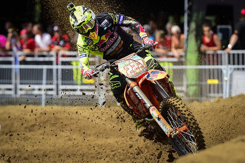 Cairoli and Anstie weather Belgian storm at Lommel