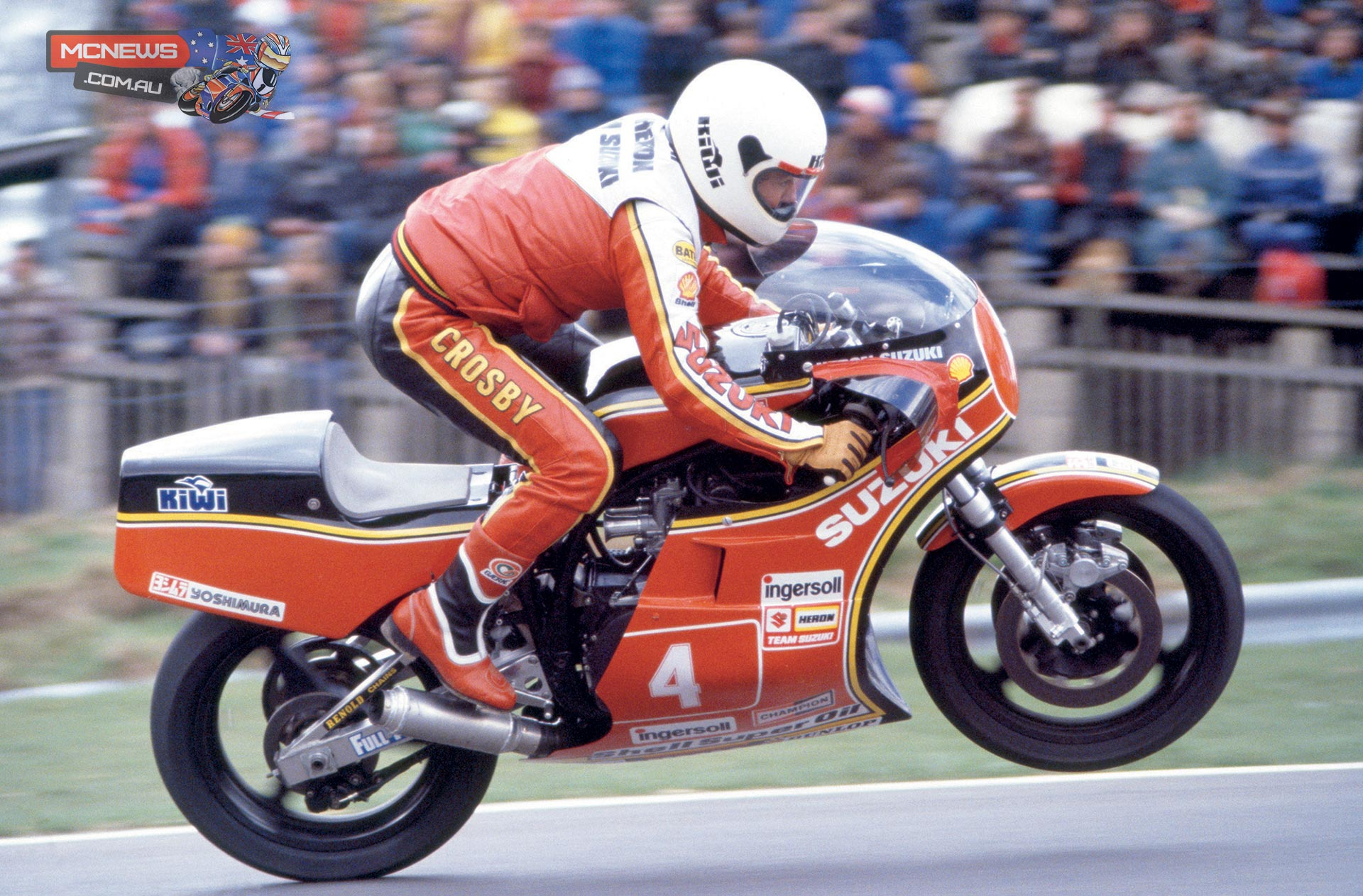 Graeme Crosby will ride the original XR69 Suzuki that he won the 1980 & 1981 World Formula One Championships on at the 2014 Classic TT