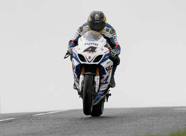 Guy Martin sets the pace during practice as the sun shines on Dundrod