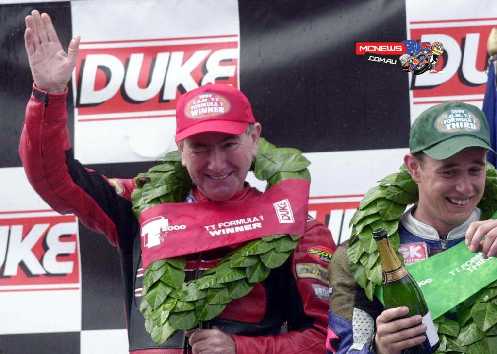 Joey Dunlop alongside John McGuinness