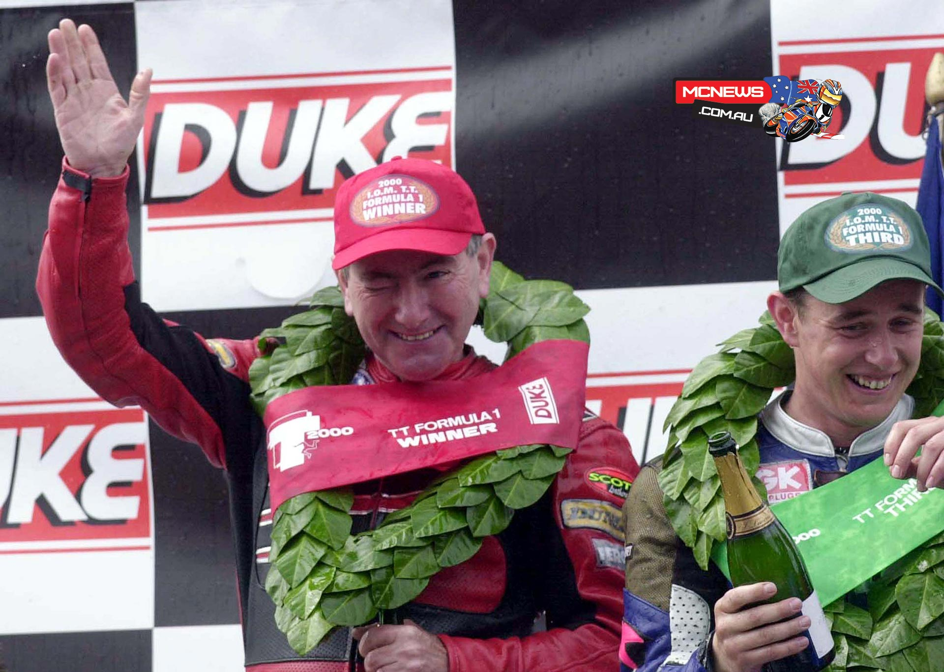 Joey Dunlop alongside John McGuinness