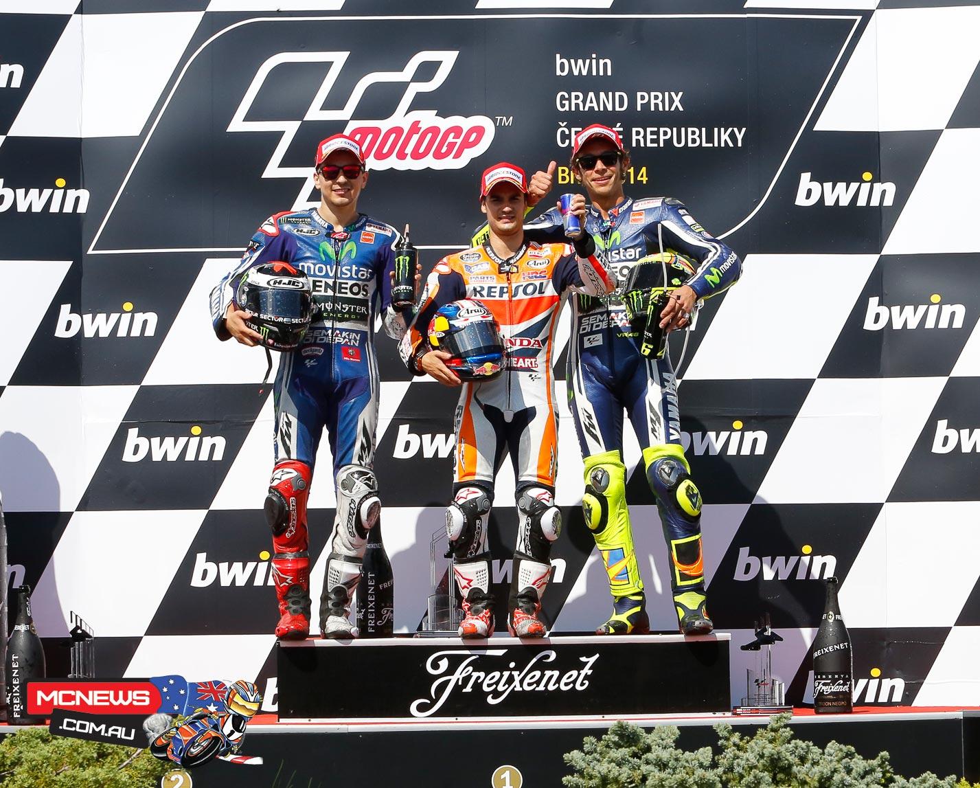 MotoGP Podium Brno MotoGP 2014