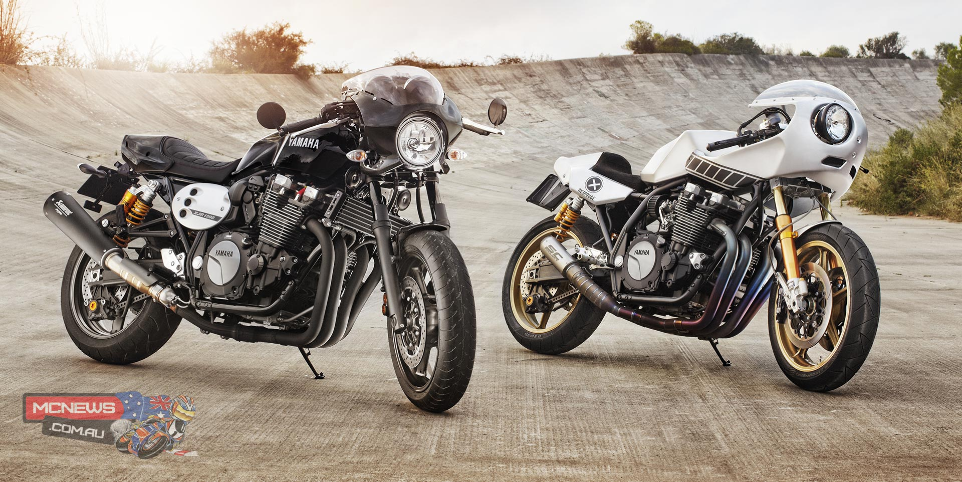 Yamaha XJR1300 Racer and customised XJR1300 Racer