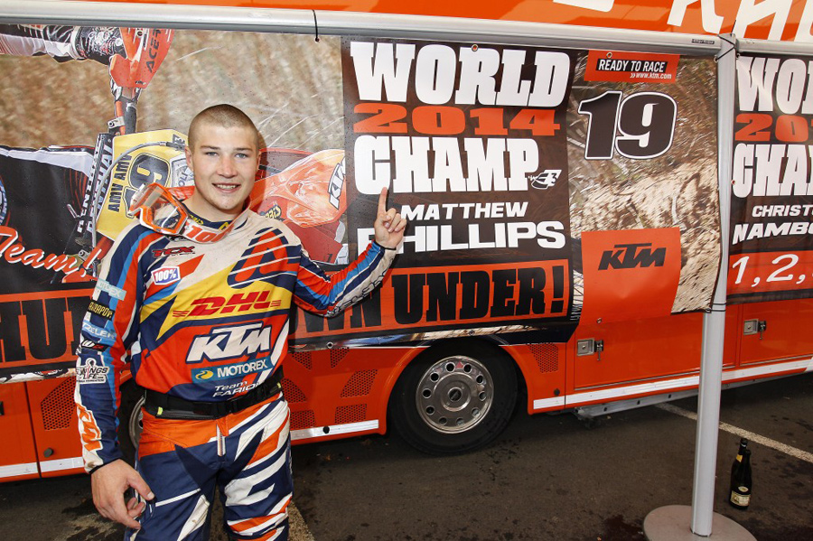 Matt Phillips Enduro 3 World Champion