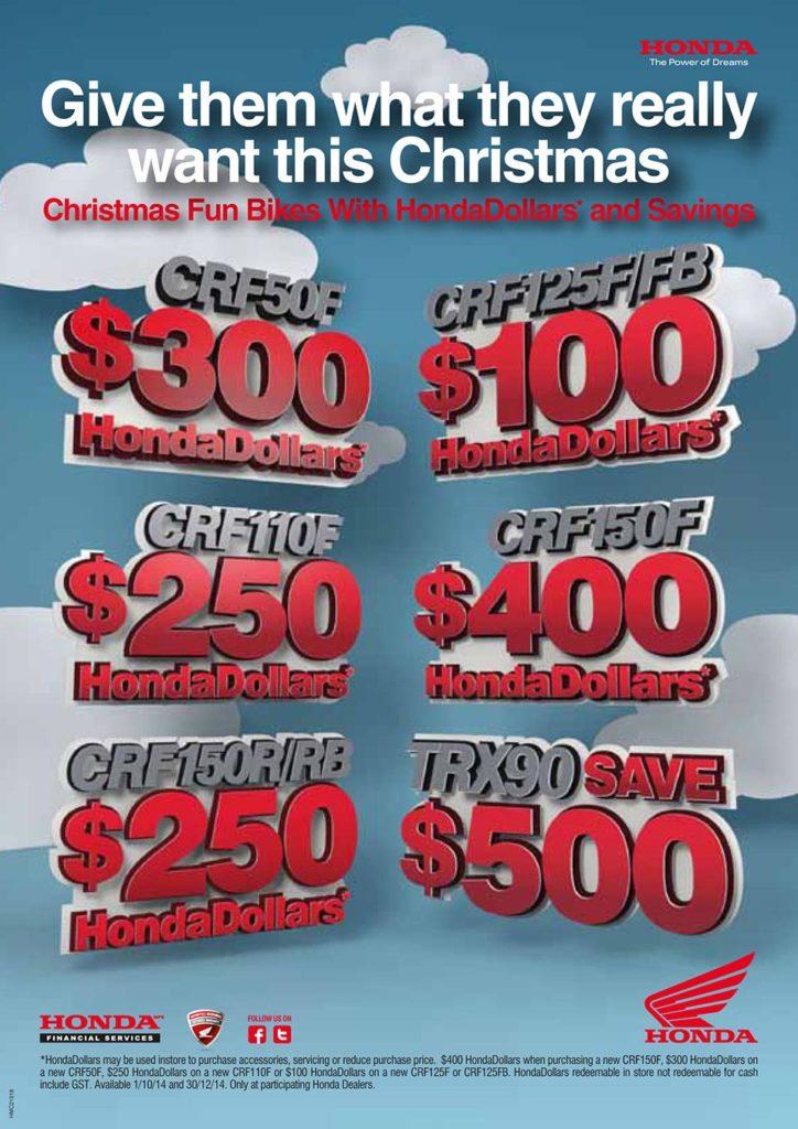 Advert - Honda Funbike Christmas Deals