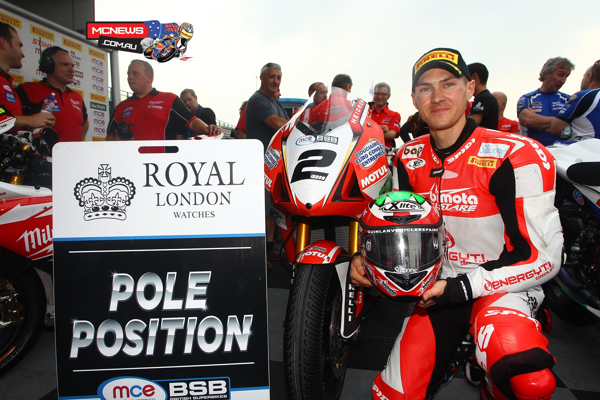 delight for the Alstare Bimota Junior team who claimed a historic first pole position with Christian Iddon