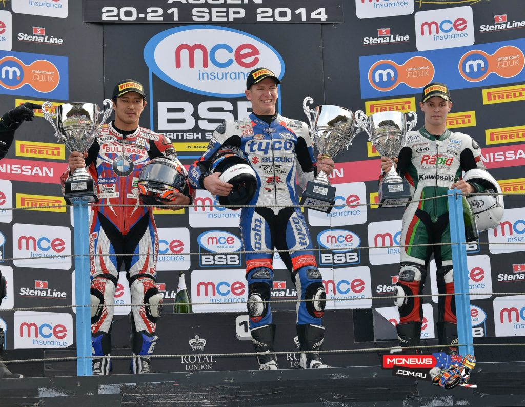 British Superbike 2014 - Assen Superbike Race One Podium