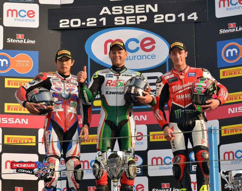 British Superbike 2014 - Assen Superbike Race Two Podium
