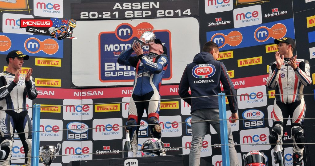 British Superbike 2014 - Assen Supersport Race Two Podium
