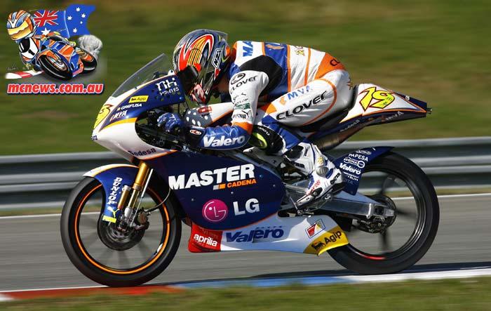 Alvaro Bautista on his way to a World Championship with Aprilia in 2006