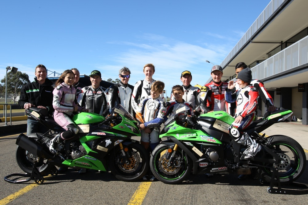 Junior riders with Legend coaches