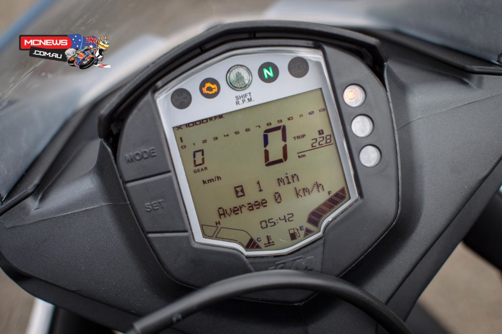 KTM RC390 Instrumentation