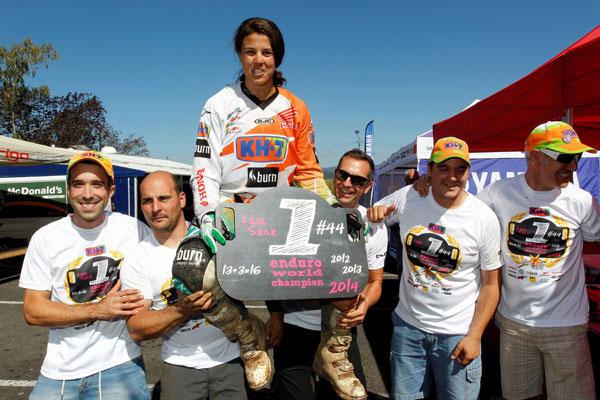 Third title for Laia Sanz