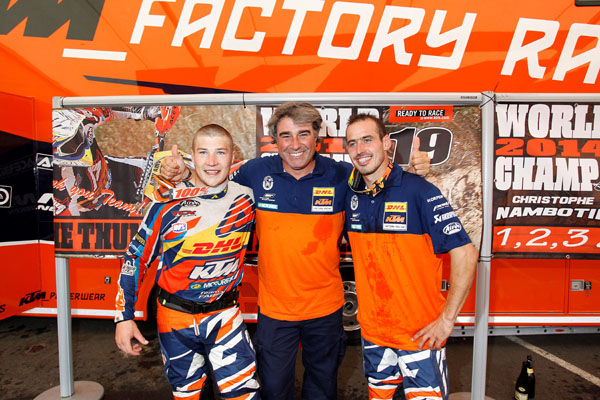 The KTM Champions Matthew Phillips and Christophe Nambotin